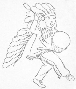 American Indian Coloring Pages - Little Indians to Color 14g
