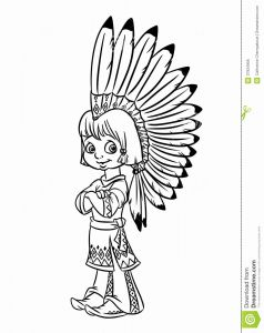 American Indian Coloring Pages - Native American Girl Coloring Page Download 5f