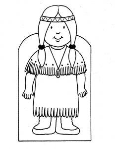"""American Indian Coloring Pages - Pilgrim Indian Coloring Pages Icolor """"little Kids Around the World"""" Usa Native American 16q"""
