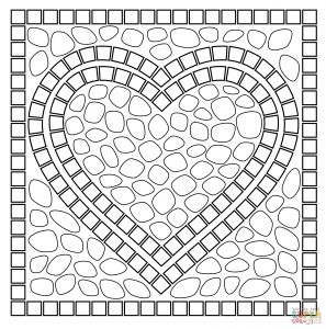 Ancient Roman Coloring Pages - Roman Mosaic Coloring Pages Free Printable with Quick Heart Page Pinteres 3t