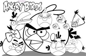 Anger Coloring Pages - Free Angry Birds Coloring Pages 17p
