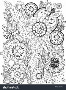 Anger Management Coloring Pages - Coloring Book for Adult Summer Flowers Vector Elements … 19s