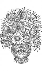 Anger Management Coloring Pages - Flower Vase Coloring Page 19p