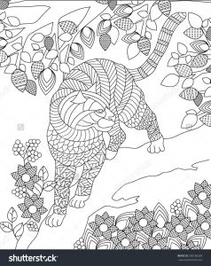 Anger Management Coloring Pages - Zentangle Panther Animal Coloring Page 15c