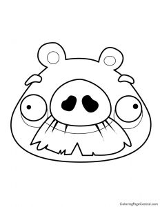 Angry Birds Pigs Coloring Pages - Angry Bird Pigs Coloring Pages Angry Birds – foreman Pig 01 Coloring Page Download 19h