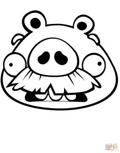 Angry Birds Pigs Coloring Pages - Moustache Pig Coloring Page Free Printable Coloring Pages 17p