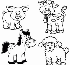 Animal Coloring Pages for Kids - Animals Coloring Pages for Kids Fresh New Easy Animal Coloring Pages Inspirational New Od Dog Coloring 4n