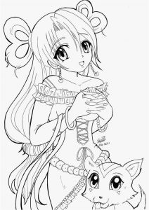 Anime Coloring Pages - Anime Girl Coloring Page Free Download Anime Girl Coloring Pages Printable Professional 6n