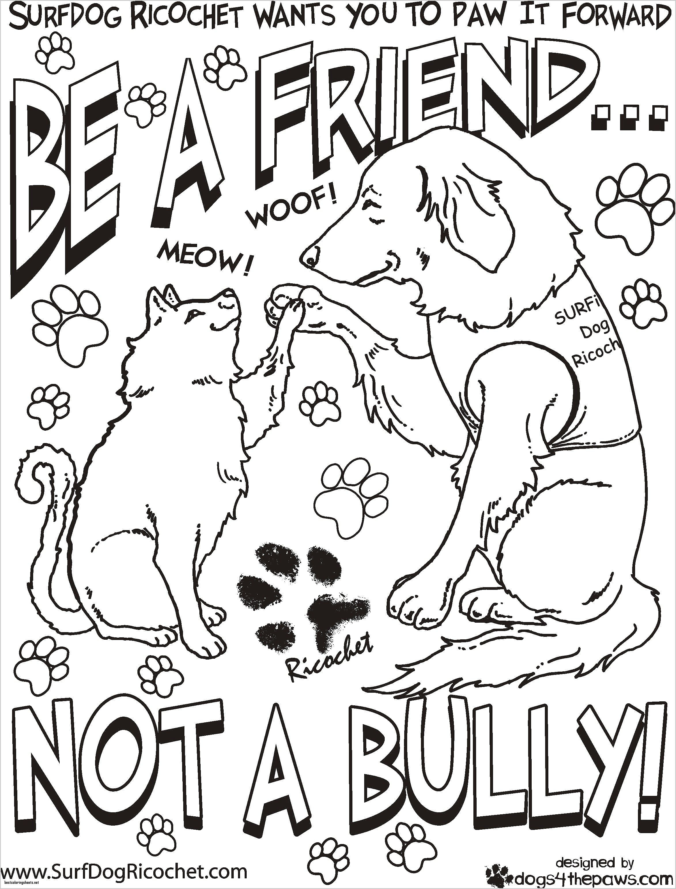 anti bullying coloring pages free Collection-Free Bullying Worksheets for First 5-k