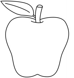 Apple Printable Coloring Pages - Apple Coloring Pages 6g