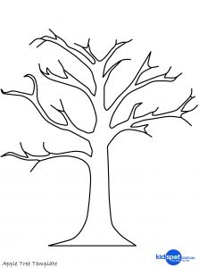 Apple Printable Coloring Pages - Printable Tree Template 7l