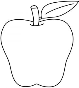 Apple Printable Coloring Pages - Simple Apple Coloring Pages X at with Hd and Page 14h