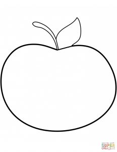 Apple Printable Coloring Pages - Pin Apple Clipart Colouring Page 15 20q
