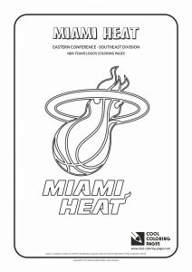 Arizona Cardinals Coloring Pages - Cool Coloring Pages Nba Basketball Clubs Logos Easter Conference southeast… 6p