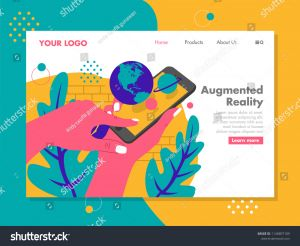Augmented Reality Coloring Pages - Pop Up Planet On Augmented Reality Phone Vector Illustration for Landing Page 12q