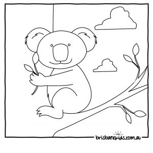 Australian Animals Coloring Pages - Koala Colouring In 14s