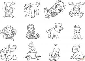 Australian Animals Coloring Pages - Pet Coloring Pages Free New 12 Chinese Zodiac Animals Coloring Page Fresh Od Dog Coloring 11d