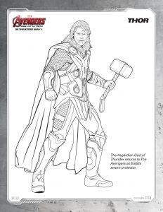 Avenger Coloring Pages - Free Printable Marvel Avengers Thor Coloring Page 7d