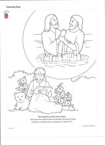 Baptism Coloring Pages - Baptism 12a