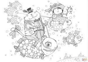 Baptism Coloring Pages - Fishing Coloring Pages Koi Coloring Pages Elegant Elegant Free Coloring Page Fish Letramac 14k