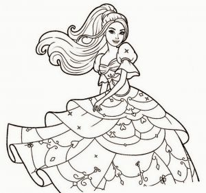 Barbie Coloring Pages Pdf - 1198x1122 Coloured Drawings Barbie Princess 20r