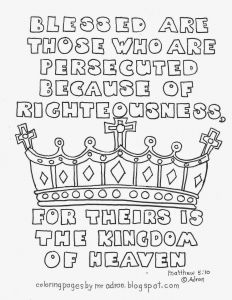 Beatitudes Coloring Pages for Children - Beatitudes Coloring Pages Beatitudes Coloring Pages for Children Lovely Printable Matthew 5 10 16e