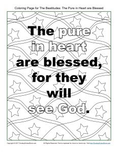 """Beatitudes Coloring Pages for Children - Beatitudes Coloring Pages Beatitudes Coloring Pages for Children New Pure In Heart"""" Beatitudes 2g"""