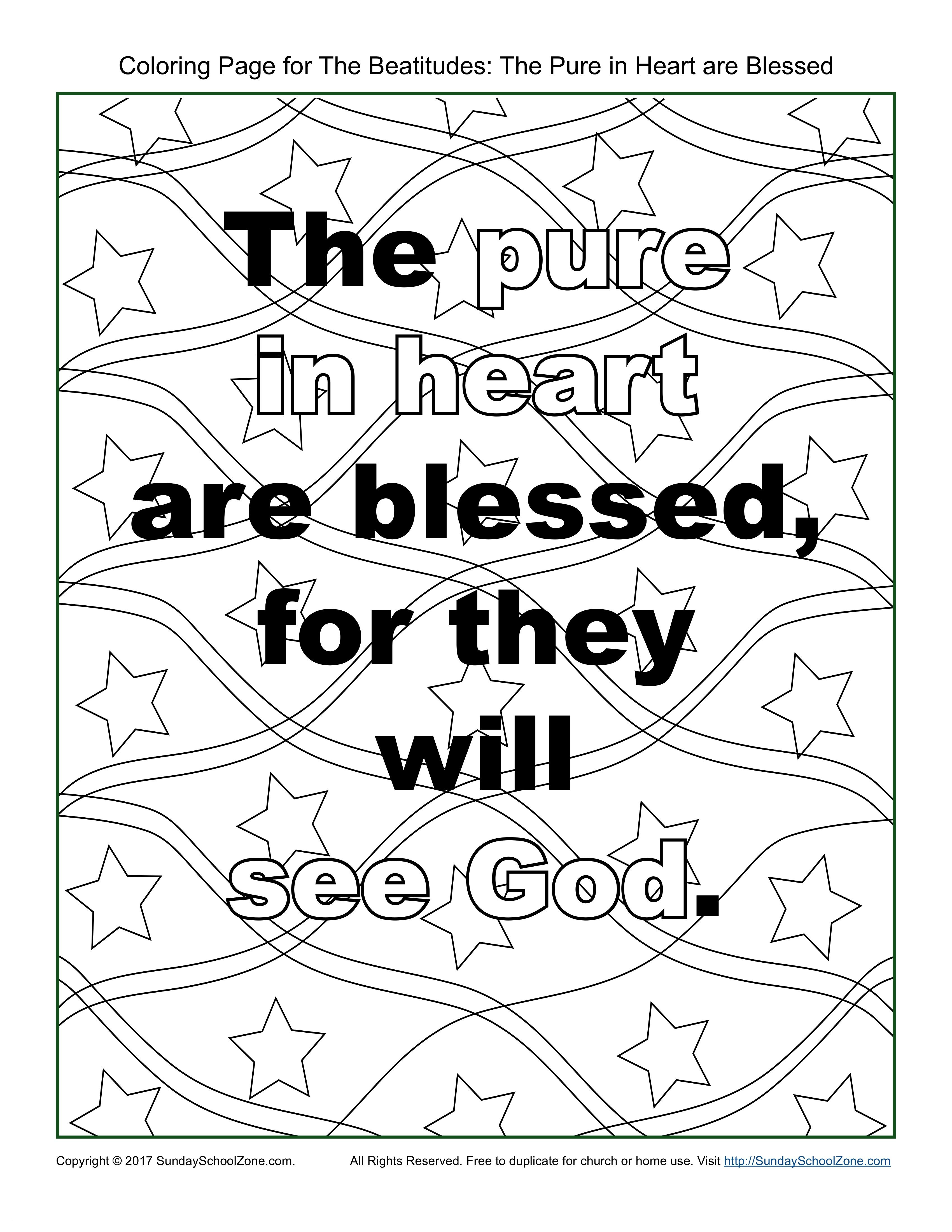 "beatitudes coloring pages for children Collection-Beatitudes Coloring Pages Beatitudes Coloring Pages for Children New Pure In Heart"" Beatitudes 1-c"