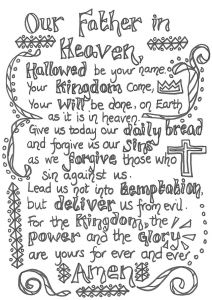 Beatitudes Coloring Pages for Children - Lord S Prayer Coloring Printables 4e