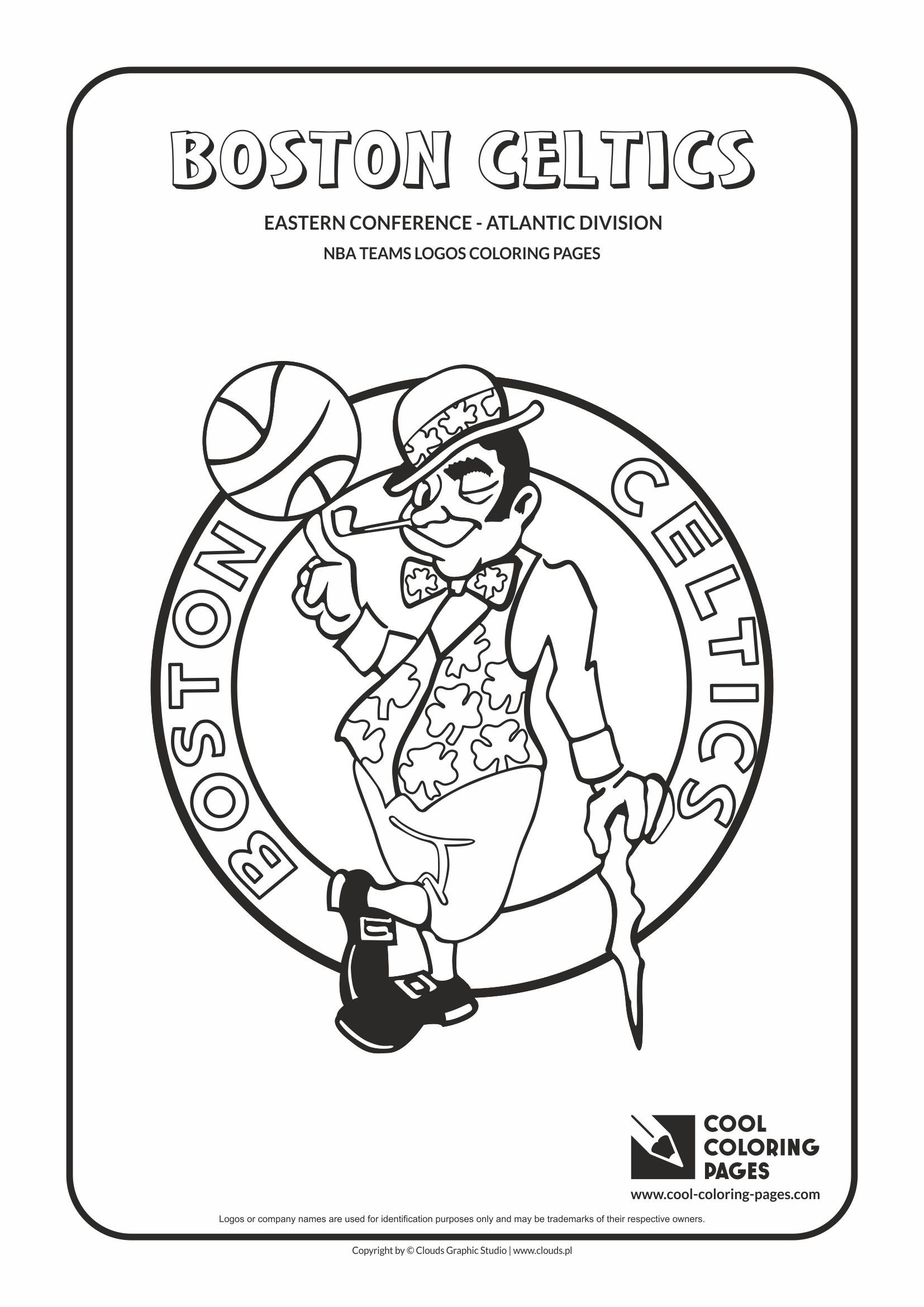 ben franklin coloring pages Download-Cool Coloring Pages NBA Teams Logos Boston Celtics logo Coloring page with… 5-t
