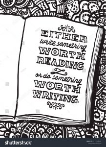"""Ben Franklin Coloring Pages - Illustration with Notebook and Benjamin Franklin S Quote """"either Write something Worth Reading or Do something 17g"""