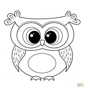 Ben Franklin Coloring Pages - Cartoon Owl Coloring Page 17t