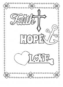 Ben Franklin Coloring Pages - Faith Hope Love Coloring Page Here to On Etsy S 3a