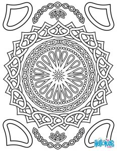 "Big Mandala Coloring Pages - Coloring for Adults Color Line or Download Prints to Color "" Both Free & No Sign In "" Picture Of the Paint Tube is Auto Fill In the Space 14a"
