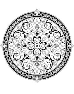 Big Mandala Coloring Pages - 100 Free Coloring Pages for Adults and Children oriental 1d