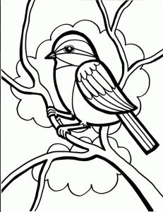 Bird Coloring Pages for Kids - Bird Coloring Pages Cardinal Bird Coloring Pages Crow Bird Coloring 8b