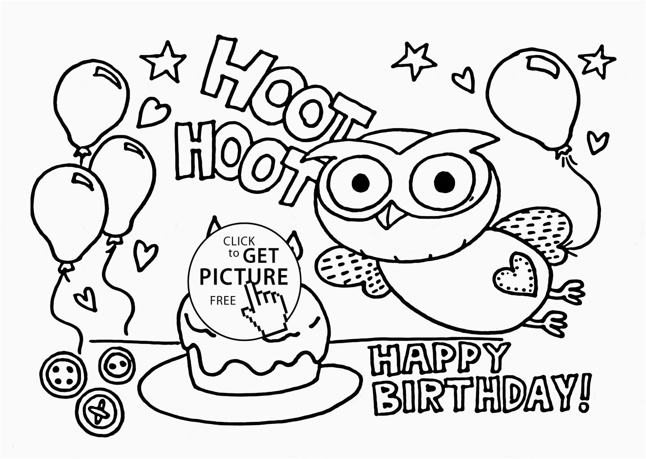 birthday presents coloring pages 12r