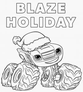 Blaze and the Monster Machine Coloring Pages - Blaze and the Monster Machine Coloring Pages Blaze and the Monster Machines Coloring Pages Coloring Chrsistmas 2f
