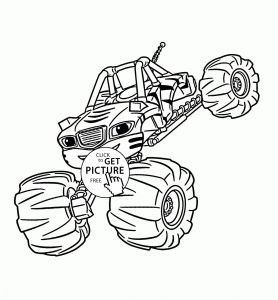 Blaze and the Monster Machine Coloring Pages - Free Monster Truck Coloring Pages Stylish Blaze Monster Truck Coloring Pages Verikira 18h