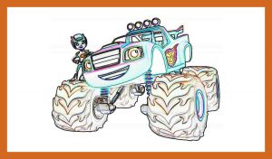 Blaze and the Monster Machine Coloring Pages - Awesome Best Blaze and the Monster Machines Coloring Pages for Kids Car 5l
