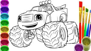 Blaze and the Monster Machine Coloring Pages - Blaze and the Monster Machine Coloring Pages 4i