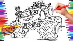 Blaze and the Monster Machine Coloring Pages - Blaze and the Monster Machines Coloring Pages Coloring Aj and Blaze Blaze Monster Truck 18b