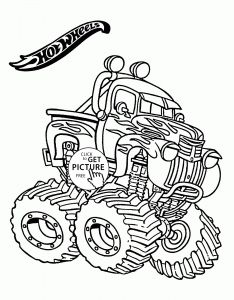 Blaze Coloring Pages - Transportation Coloring Pages for Kids Truck Coloring Pages Awesome Hot Wheels Monster Truck Coloring Page 17i