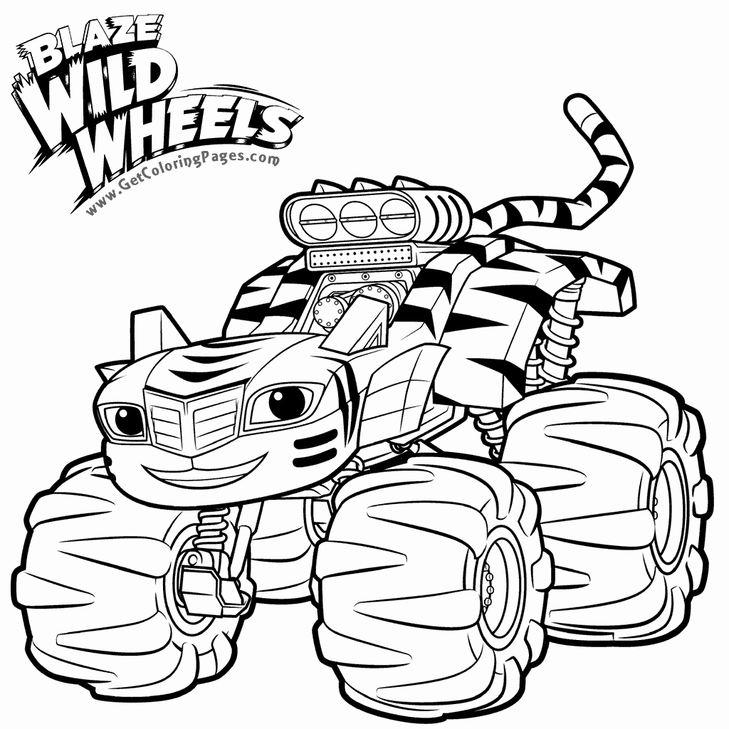 69 Awesome Collection Of Blaze Monster Truck Coloring Pages