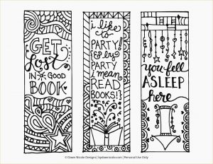 Bookmarks Coloring Pages - Free Printable Coloring Page Bookmarks 1g