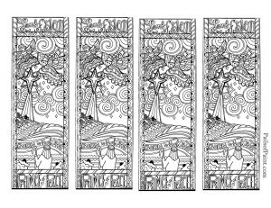 Bookmarks Coloring Pages - Free Printable Dragon Bookmarks to Color Image source 14k