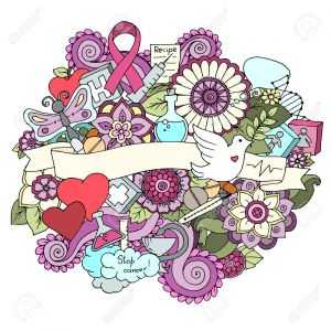 Breast Cancer Coloring Pages - Global Collaboration Breast Cancer Awareness Month Colorful Doodle Illustration Medical Background with Ribbon Dove 16r