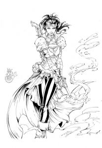Breast Cancer Coloring Pages - Lady Mechanika Inks by Devgear On Deviantart 6j