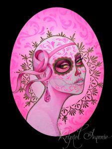 "Breast Cancer Coloring Pages - ""pink Catrina"" Mash Between Halloween and Breast Cancer Awareness Day Of the Dead Dia De Los Muertos 6t"