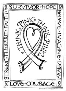 Breast Cancer Coloring Pages - Omalovánky 8a